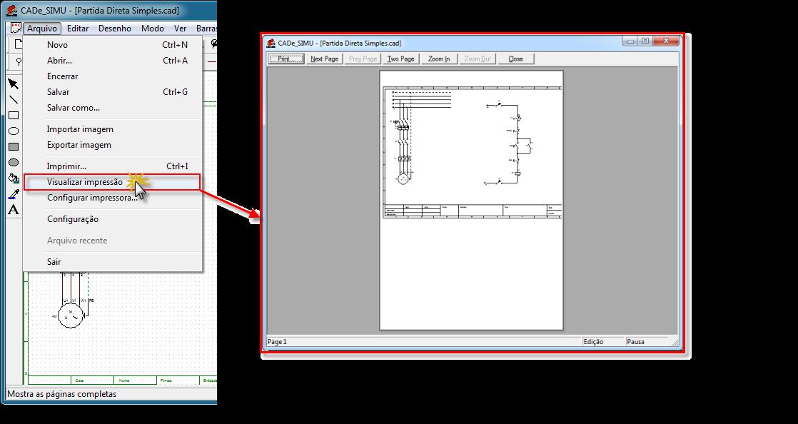 Visualizar impressão CADe SIMU