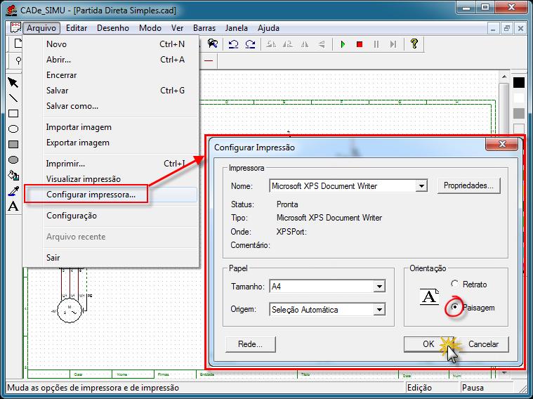 Configurar Impressora CADe SIMU