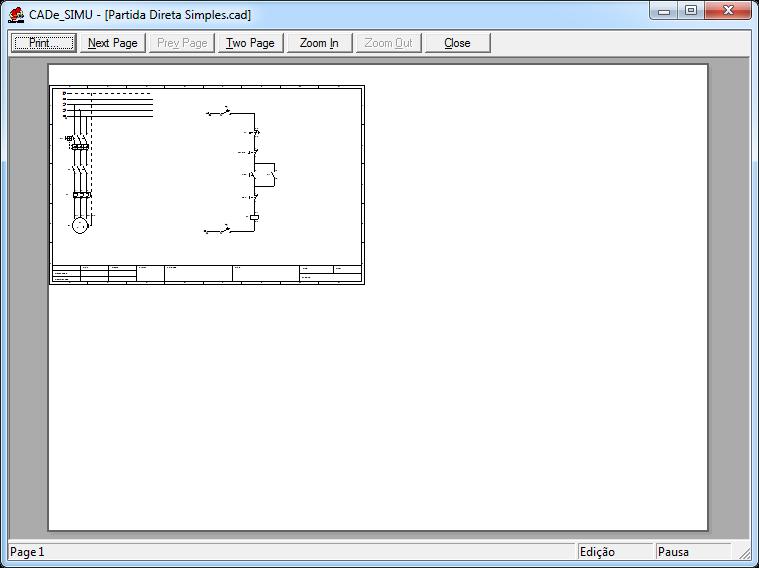 Visualizando impressão no CADe SIMU