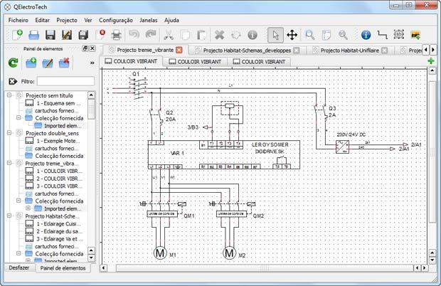 Diagrama de Potência - QElectrotech