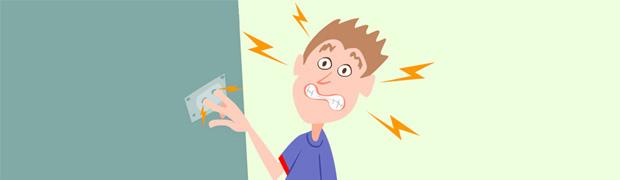 aterramento choque elétrico
