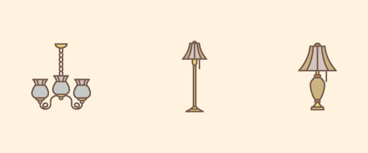 lampadas antigas