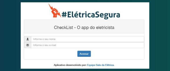 aplicativo para eletricista check list