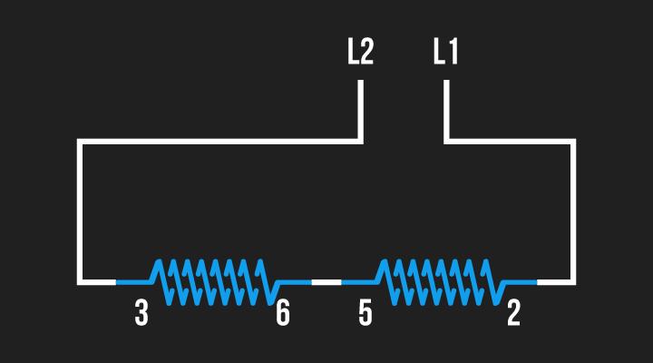 ligação alimentação conjunto de bobinas 2 e 3