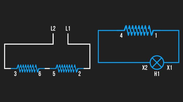 Ligação para definir a polaridade das bobinas 3 e 2
