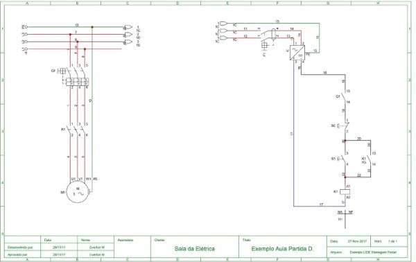 Montagem de Painéis de Comandos Elétricos Diagrama Elétrico