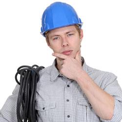 eletricista com duvida