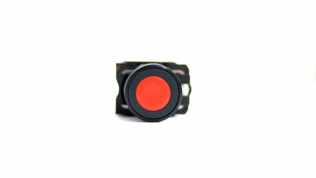 botão na cor vermelha