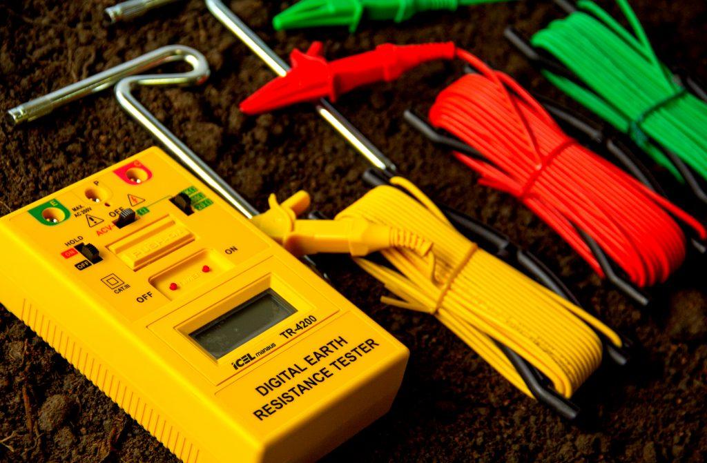 Terrômetro com seus componentes