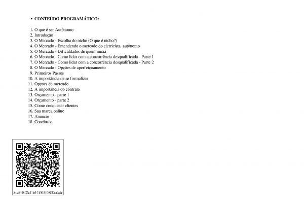 Certificado Eletricista Autonomo Express - Verso