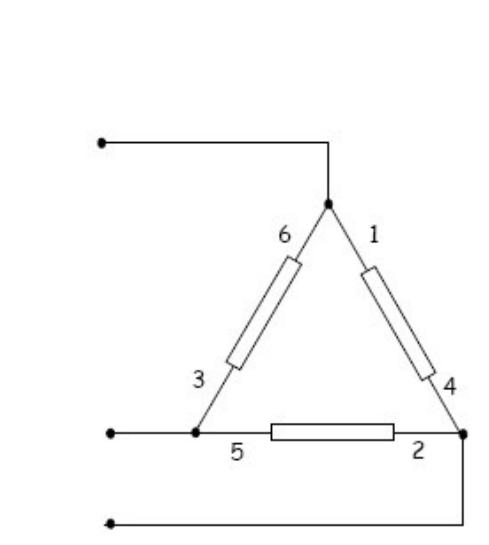 fechamento das bobinas em triângulo