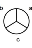 Simbologia: Interruptor de três secções